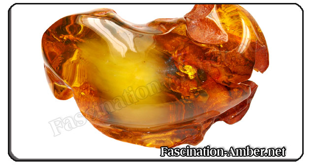 Amber with air-inclusions